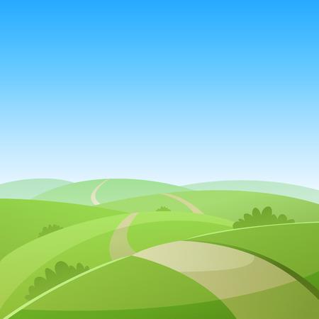 Ilustración de Country Road - Imagen libre de derechos