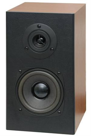 Photo for music speakers with two speakers on a white background - Royalty Free Image