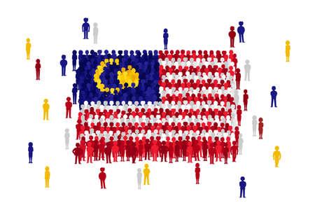 Illustration pour Malaysia state flag Vector - image libre de droit