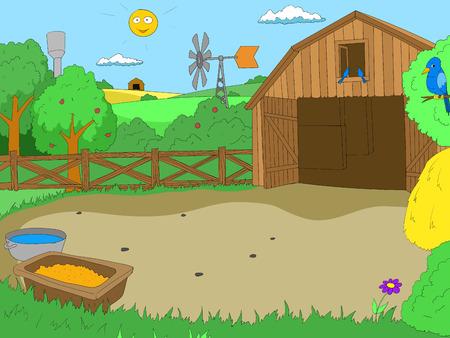 Ilustración de Cartoon farm color book children vector illustration - Imagen libre de derechos
