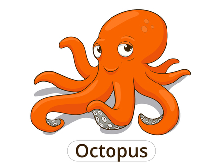 Photo pour Octopus sea animal fish cartoon colorful vector illustration for children - image libre de droit