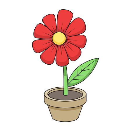 Ilustración de Flower cartoon colorful hand drawn vector illustration - Imagen libre de derechos