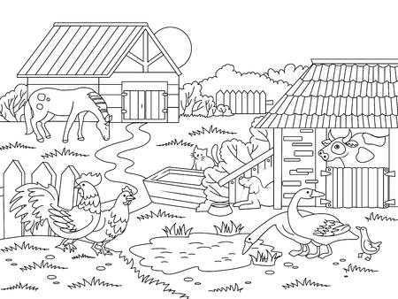 Ilustración de Cartoon children coloring vector illustration - Imagen libre de derechos