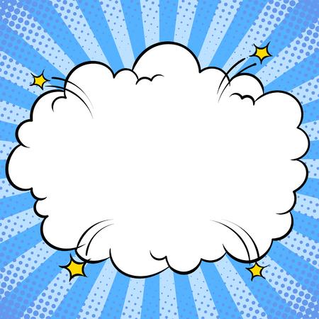 Illustration pour Bomb explosion cloud comic book pop art vector - image libre de droit