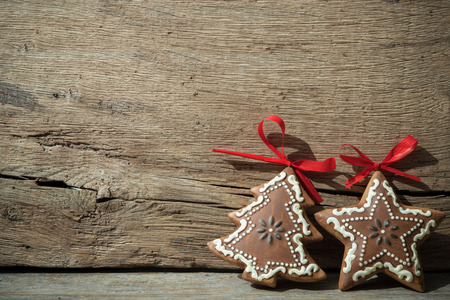 Photo for Vintage christmas decoration over old wooden background - Royalty Free Image