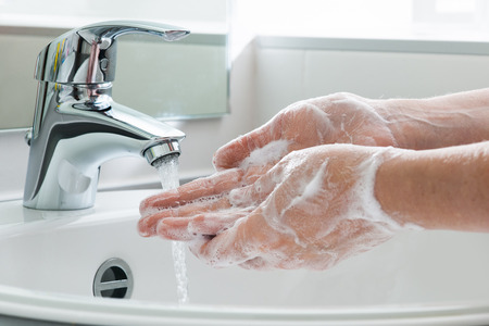 Photo pour Hygiene. Cleaning Hands. Washing hands. - image libre de droit
