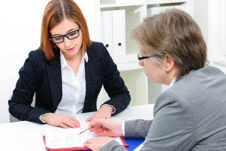 Foto de Job applicant having an interview - Imagen libre de derechos