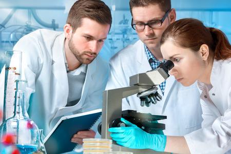 Foto de group of scientists working at the laboratory - Imagen libre de derechos