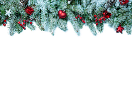 Photo for Christmas decoration Holiday decorations isolated on white background - Royalty Free Image