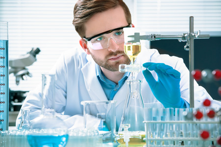 Photo for scientist working at the laboratory - Royalty Free Image