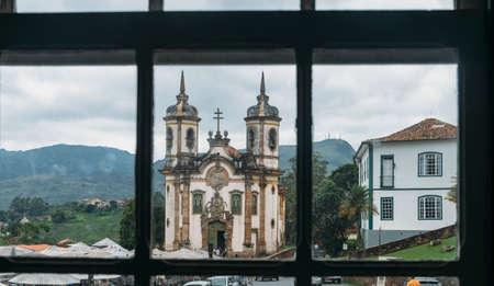 Photo pour Church in Ouro Preto, Minas Gerais, Brazil - image libre de droit