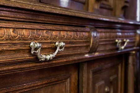 Photo for antique wood dresser with vintage furniture - Royalty Free Image