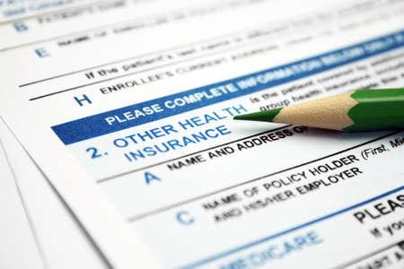 Photo pour Health insurance form  - image libre de droit