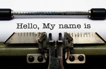 Photo for Hello, my name is - Royalty Free Image