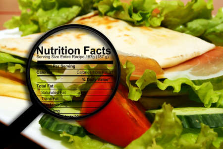Photo pour Food nutrition facts - image libre de droit
