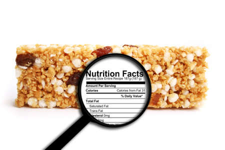 Photo pour Nutrition facts - image libre de droit