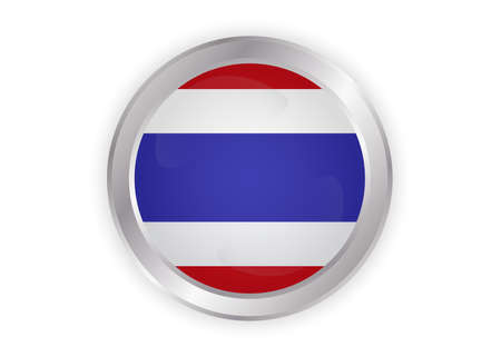Illustrazione per Thailand flag, official colors and proportion correctly. National Thailand flag. Flat vector illustration. - Immagini Royalty Free
