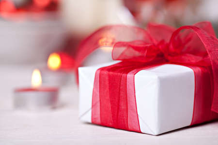 Giftbox with red bow
