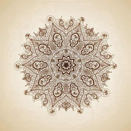 Foto de Vintage pattern. Hand drawn abstract background. Decorative retro banner.  - Imagen libre de derechos