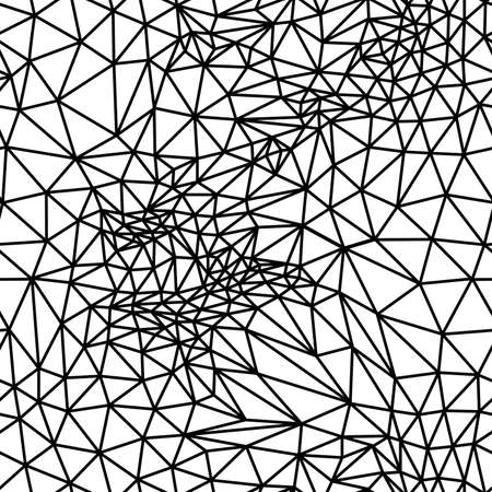Illustration pour Vector abstract black and white seamless background from triangles. - image libre de droit