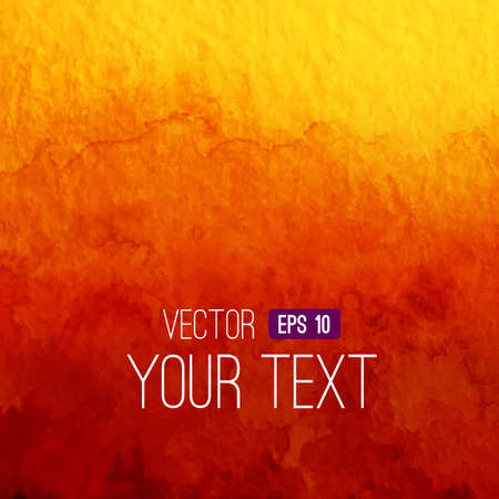 Illustration pour Vector abstract watercolor backgroun. Orange background. Design template with place for your text. Watercolor backdrop can be used for web page background, identity style, printing, etc. - image libre de droit