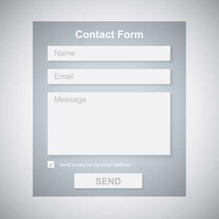 Photo pour The Simple Gray Contact Form  Contact Us Form  Web Site Design  - image libre de droit