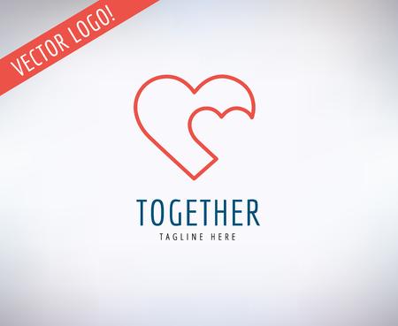 Illustration pour Heart shaped icon  - image libre de droit