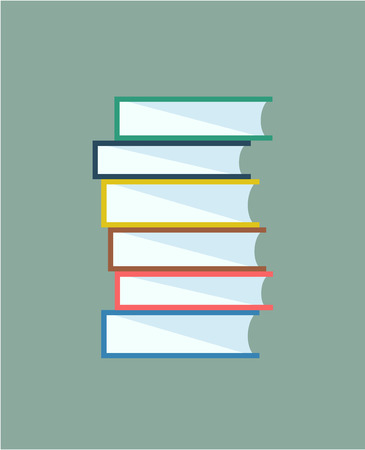 Illustration pour Books stack. Icon isolated. School objects, or university and college symbols. Stock design elements. - image libre de droit
