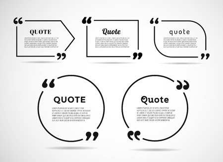 Illustration pour Quote text bubble. Commas, note, message and comment. - image libre de droit