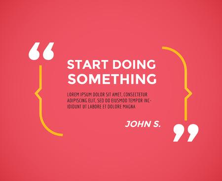 Illustration pour Inspirational quote. Motivation, inspiration, quote and note.  - image libre de droit