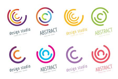 Ilustración de Abstract flow logo template design - Imagen libre de derechos