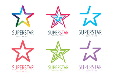 Illustration for Star vector logo icon template set - Royalty Free Image