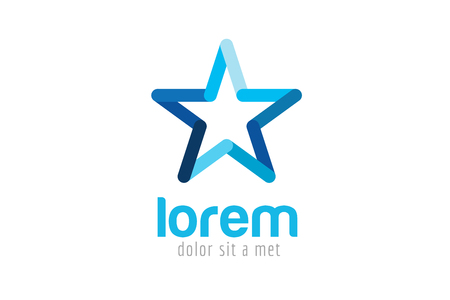 Illustration pour Star vector logo. Star icon. Leader boss star, winner, star rating, rank. Star astrology symbol. Starburst logo isolated. Star icon logotype. Sport star logo. Astronomy star logo - image libre de droit