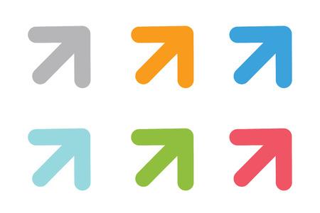 Ilustración de Vector arrow icon. Arrow abstract logo template. Up arrow, cursor arrow icon, arrowheads. Arrow marker and dynamic arrow symbol. Arrow isolated. Arrow vector logo. Arrow company logo - Imagen libre de derechos