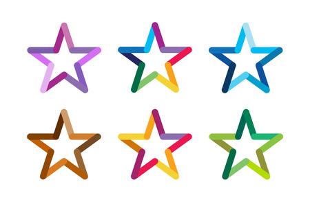 Ilustración de Star vector logo. Star icon. Leader boss star, winner, star rating, rank. Star astrology symbol. Starburst logo isolated. Star icon logotype. Sport star logo. Astronomy star logo - Imagen libre de derechos