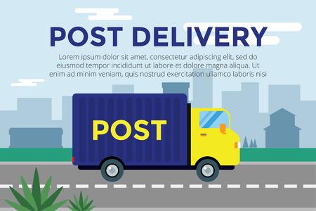 Illustration pour  Delivery service van.  - image libre de droit