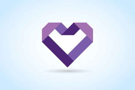 Illustration for Heart icons vector  - Royalty Free Image