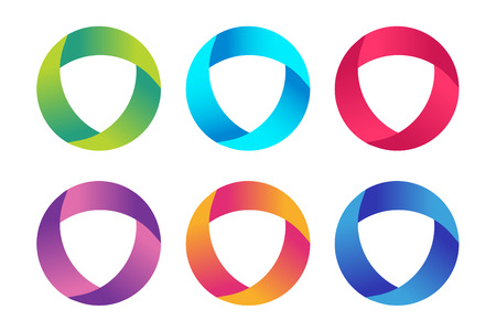 Illustration for Technology orbit web rings icon.   - Royalty Free Image
