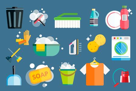 Ilustración de Cleaning icons vector set.  - Imagen libre de derechos