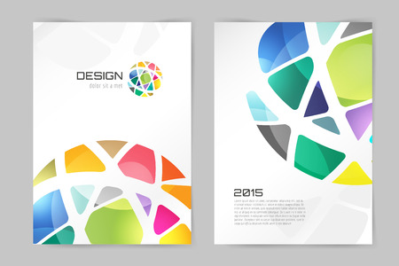 Photo pour Abstract brochure or flyer design template. Book design, blank, print design, journal. Brochure vector. Brochure template. Flyer design. Flyer template. Brochure abstract design. Brochure background - image libre de droit