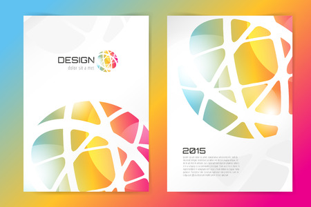 Illustration pour Abstract brochure or flyer design template. Book design, blank, print design, journal. Brochure vector. Brochure template. Flyer design. Flyer template. Brochure abstract design. Brochure background - image libre de droit