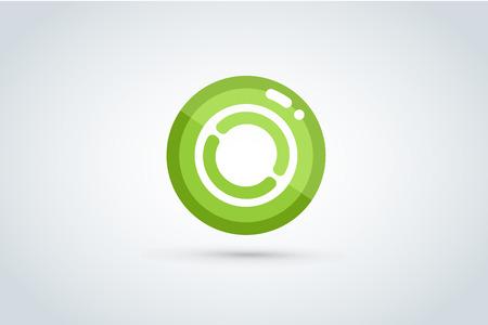 Ilustración de Technology circle - Imagen libre de derechos