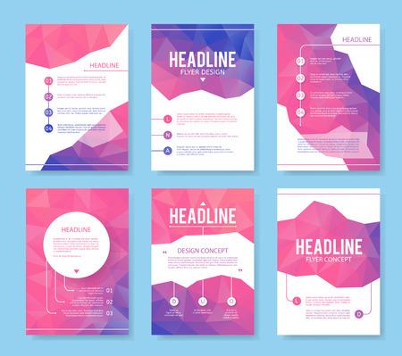 Illustration pour Abstract brochure or flyer design template. Book design, blank, print design, journal. Brochure vector. Brochure template. Flyer design. Flyer template. Brochure abstract design. Brochure background - image libre de droit