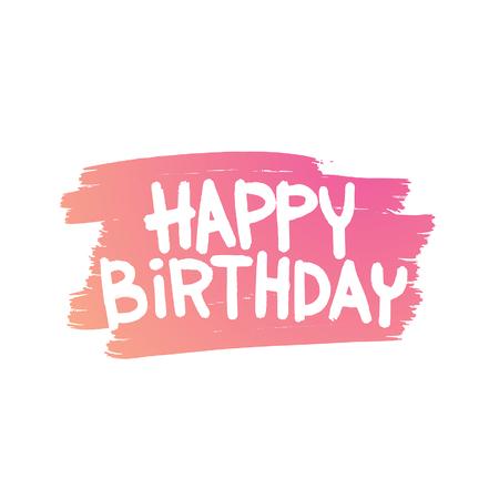 Happy Birthday Card illustration. Happy Birthday background. Happy Birthday Card design invitation. Happy Birthday Card poster. Happy Birthday Card party
