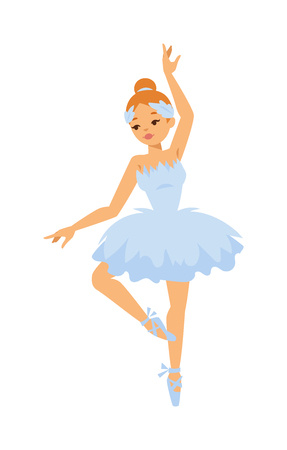 Illustration for Silhouette of female modern contemporary ballet dancer girl. Professional ballet dancer posing. Beautiful female young woman ballerina dancers character. Performer beauty exercise - Royalty Free Image