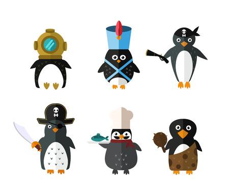 Ilustración de Penguin animal character illustration. - Imagen libre de derechos