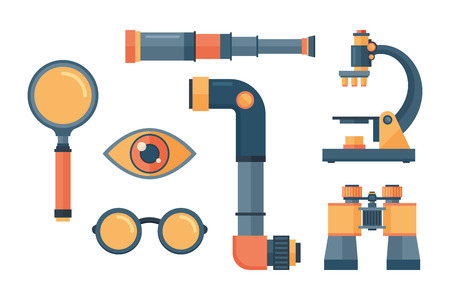 Illustration pour Spyglass telescope lens vector illustration. - image libre de droit
