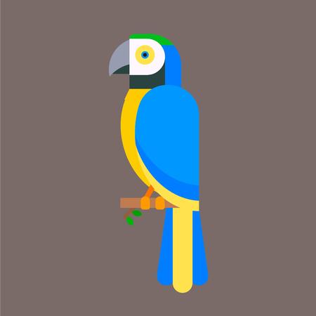 Ilustración de Parrot bird blue breed species animal nature tropical parakeets education colorful pet vector illustration - Imagen libre de derechos