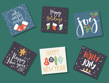 Photo for Christmas greeting card vector background illustration. - Royalty Free Image