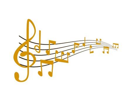 Ilustración de Notes music vector illustration - Imagen libre de derechos